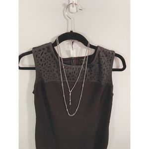 ANN TAYLOR Silver Metallics Necklace NWT